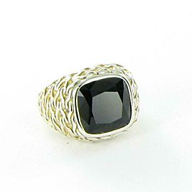 John Hardy Classic Chain Black Onyx Ring Sterling Sterling Silver