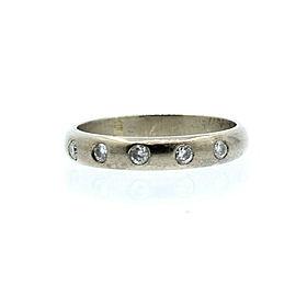 18k White Gold .35ct Diamond Ladies Ring Band Size 7.5