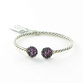 David Yurman Osetra Bracelet Bangle Rhodalite Garnet 3.5mm Sterling