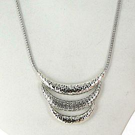 John Hardy Classic Chain Arch Bib Necklace Sterling Silver NB999738X16-18