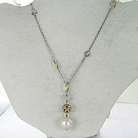 John Hardy Legends Naga Baroque Pearl Pendant Necklace 18K Sterling