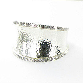 John Hardy Classic Chain Hammered 42mm Cuff Bracelet Sterling Silver