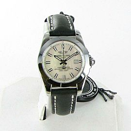 Breitling Galactic 29 Sleek Mother Of Pearl Dial Blk Leather Ladies Watch