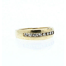 Fine Estate 14k Yellow gold .40ct Diamond Men's Ring Band Size 8.5