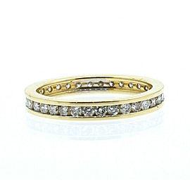 14k Yellow Gold 1.4ct Diamond Eternity Men's Ring Band Size 8.5