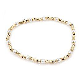 Bulgari Bulgari Pearls 18k Yellow Gold Fancy Link Necklace