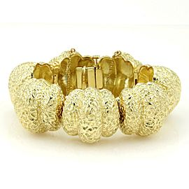 Hammerman Brothers Vintage 18kt Yellow Gold Hammered Design Hefty Bracelet