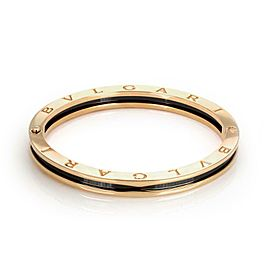 Bulgari Bulgari B Zero-1 Black Ceramic 18k Rose Gold Bangle 7.5""