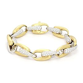 Marco Bicego 7.5ct Diamond 18k Two Tone Oval Chain Link Bracelet