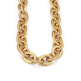 "Roberto Coin 18k Pink Gold Large Oval Link Chain Long Necklace 160 grams 39""L"
