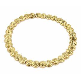 Tiffany & Co. 18k Yellow Gold Spiro Swirl Link Collar Necklace 142 Grams