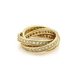 Cartier Full Circle Diamond 18k YGold Rolling Band Ring Size EU 52-US 5.5