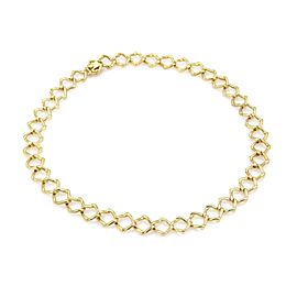 Tiffany & Co. Picasso Vintage 18k Yellow Gold Square Link Collar Necklace