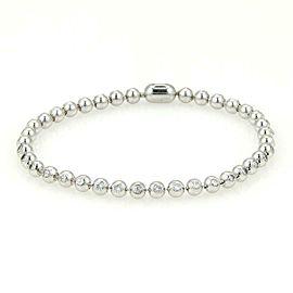 Cartier 2.04ct Diamond 18k White Gold Bead Tennis Bracelet w/Paper