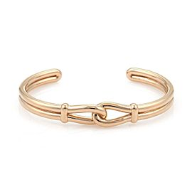 Tiffany & Co. Picasso 18k Rose Gold Interlaced Loop Cuff Bangle Bracelet