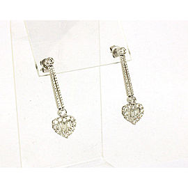 New Gregg Ruth 2.72ct Diamond 18k Gold Hearts Long Dangle Earring