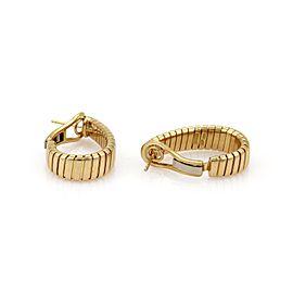 Bvlgari Bulgari Tubogas 18k Yellow Gold 8mm Wide Oval Hoop Earrings