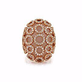 Carla Amorim BLACK LABEL 3ct Diamond Quartz 18k Rose Gold Fancy Ring Size 6