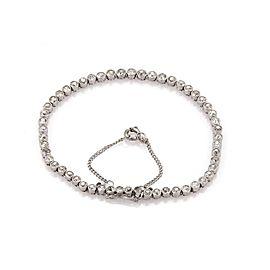 Art Deco 3.70ct Old Mine Cut Diamond Platinum Tennis Bracelet