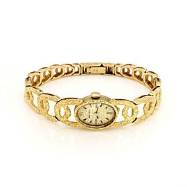 Rolex Vintage 18k Yellow Gold Case Band Hand Wind Ladies Oval Wrist Watch