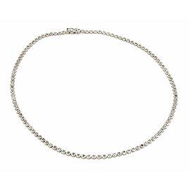 Estate 2.00ct Diamond 18k White Gold Disc Link Prong Set Tennis Necklace