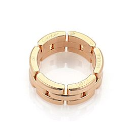Cartier Maillon Panthere 18k Rose Gold 8mm Band Ring Size 51-US 5.5 w/Cert