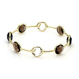 Ippolita Rock Candy Gelato 8 Station Smoky & Clear Quarz 18k Gold Bangle