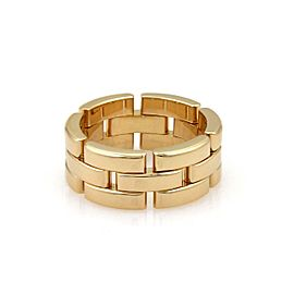 Cartier Maillon Panthere 18k Y/G 8mm Wide Band Ring Size 52-US 5.75