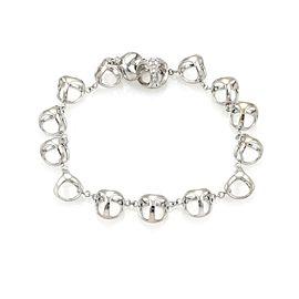 Di Modolo Diamond 18k White Gold Triadra Circle Charms Chain Bracelet