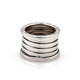 Bulgari Bulgari B Zero-1 18k White Gold 13mm Band Ring Size EU 52-US 5.5
