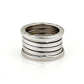 Bvlgari Bulgari B Zero 1 18k White Gold 13mm Band Ring Size 55-US 6.75