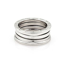 Bvlgari Bulgari B Zero-1 18k White Gold 9mm Band Ring Size EU 56-US 7.5