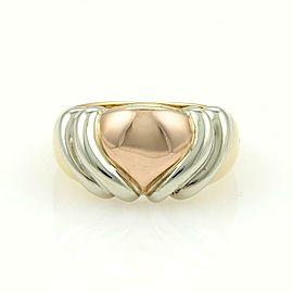 Bulgari Bvlgari 18k Yellow White & Rose Gold Heart Ring
