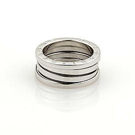 Bvlgari Bulgari B Zero-1 18k White Gold 8mm Band Ring Size EU 52-US 5.75
