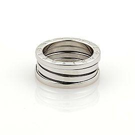 Bvlgari Bulgari B Zero-1 18k White Gold 8mm Band Ring Size EU 52-US 5.75