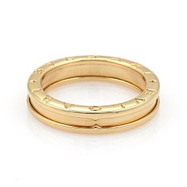 Bvlgari Bulgari B Zero-1 Single 5mm 18k Yellow Gold Band Ring Size 54-US 7