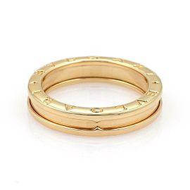 Bvlgari Bulgari B Zero-1 Single 5mm 18k Yellow Gold Band Ring Size 54-US 7