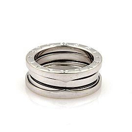 Bulgari Bulgari B Zero-1 18k White Gold 7mm Band Ring Size 51-US 5.5