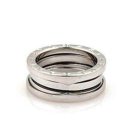 Bulgari Bulgari B Zero-1 18k White Gold 7mm Band Ring Size 51-US 5.5