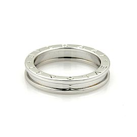 Bvlgari Bulgari B Zero-1 Single 18k White Gold 5mm Band Ring Size EU 48