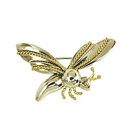 Tiffany & Co. 18k YGold Sterling Silver 3D Bug Pin Brooch