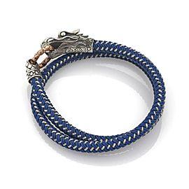 John Hardy Men's Legend Naga Wrap Nylon Sterling Dragon Head Bracelet