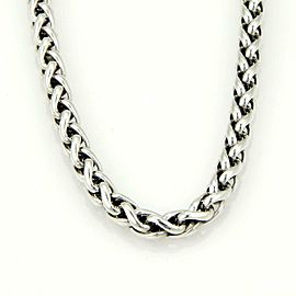 "David Yurman Sterling Silver 14k Yellow Gold 8.2mm Thick Woven Chain 16"" L"