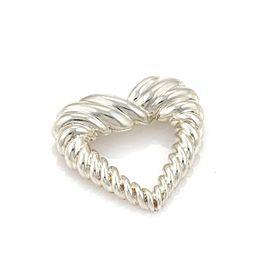 Tiffany & Co. Sterling Silver Heart Brooch Pin