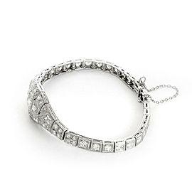 Art Deco 5 Carats Diamond Platinum Milgrain Design Bracelet
