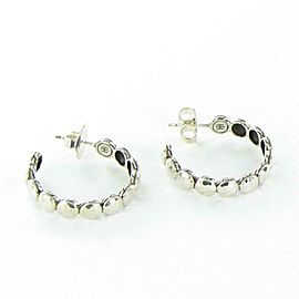 John Hardy Dot Collection Sterling Silver 29mm Small Hoop Earrings EB7230