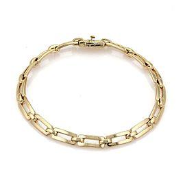 Cartier Tank 18k Yellow Gold Long Rectangular Bar Link Bracelet w/Paper