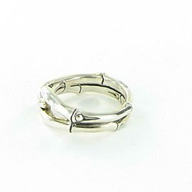 John Hardy Bamboo Ring 9mm Wide Link Sterling Silver RB5807x7 Size 7
