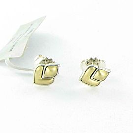John Hardy Naga Legends Stud Earrings 13mm Sterling Silver 18K Yellow Gold