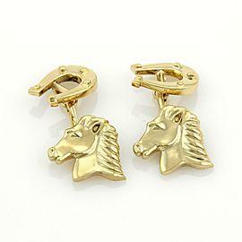 Tiffany & Co. 18k Yellow Gold Horse & Shoe Chain Cufflinks